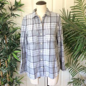 Old Navy Medium Gray Flannel Shirt